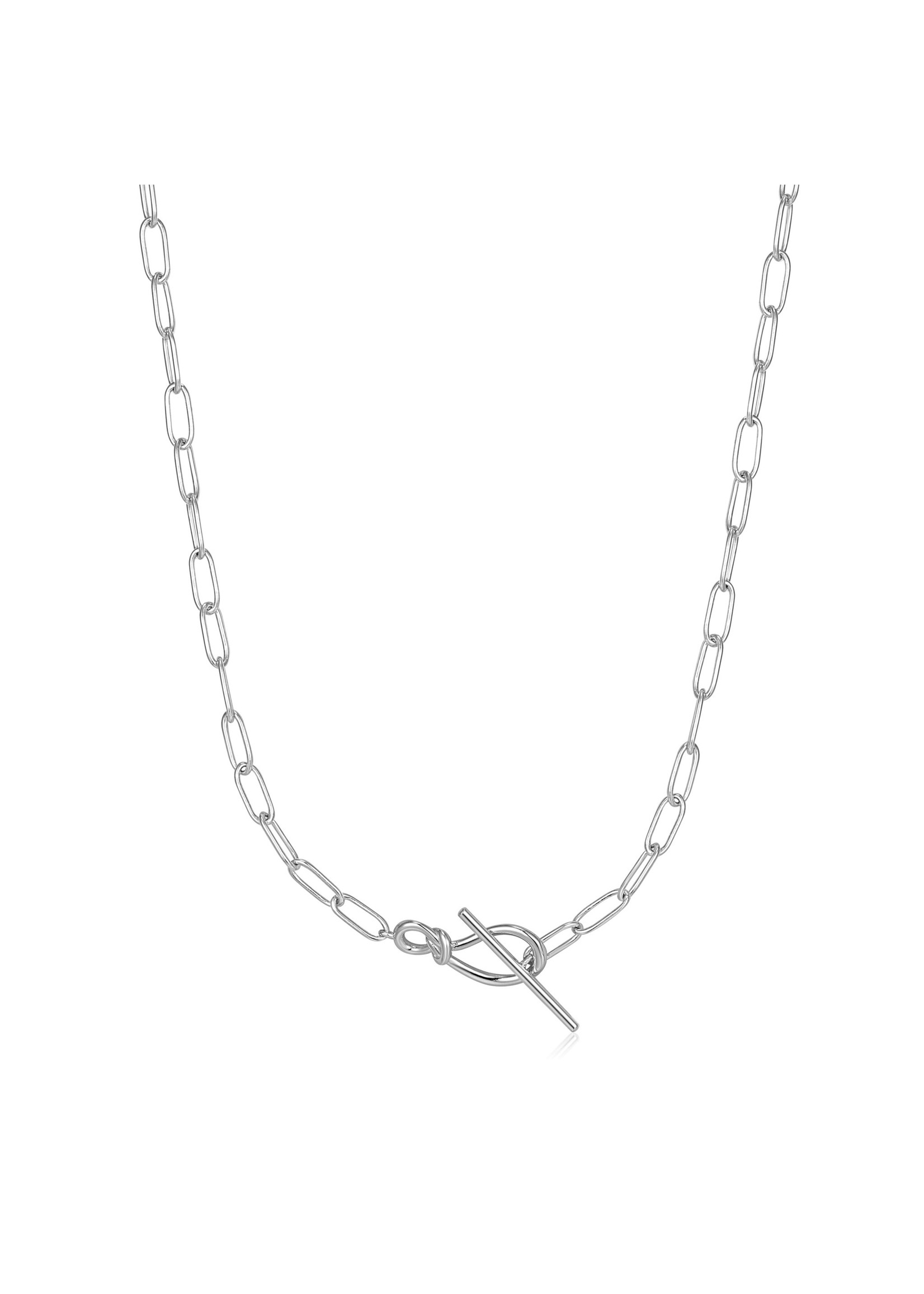 Ania Haie SILVER KNOT T BAR CHAIN NECKLACE