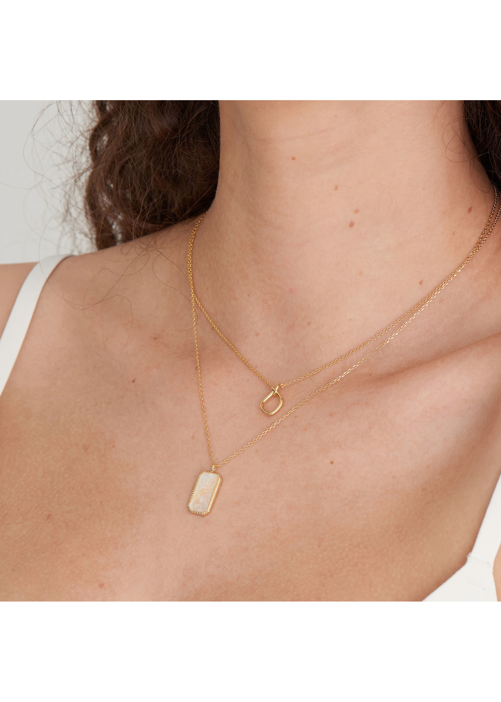 Ania Haie GOLD KNOT PENDANT NECKLACE