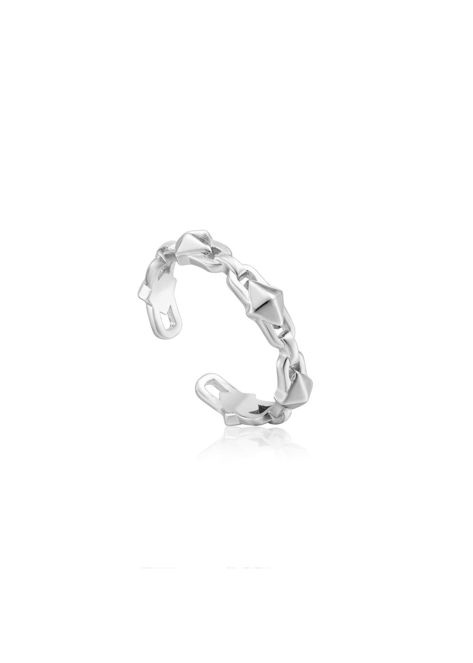 Ania Haie SILVER SPIKE ADJUSTABLE RING