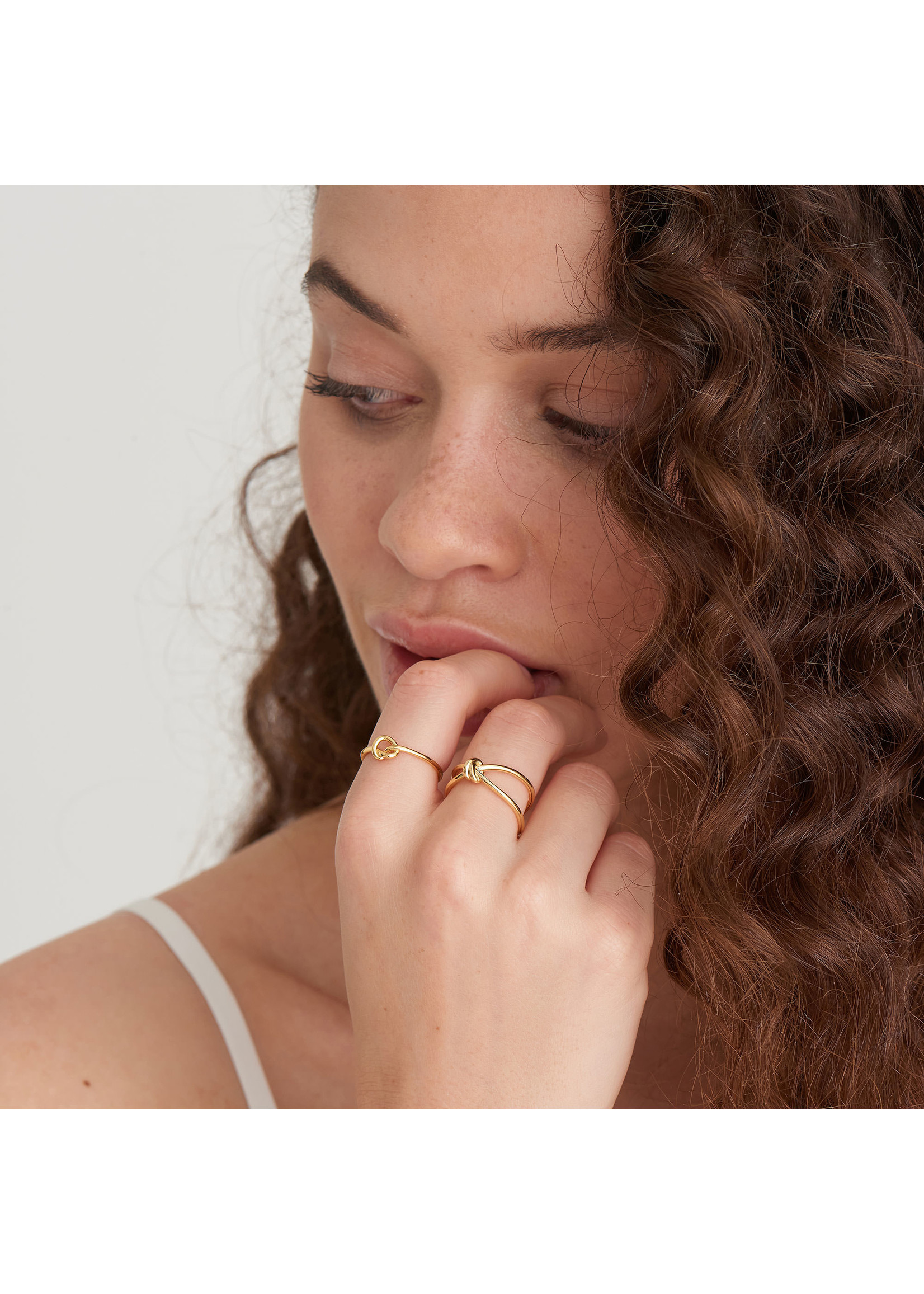 Ania Haie GOLD KNOT ADJUSTABLE RING