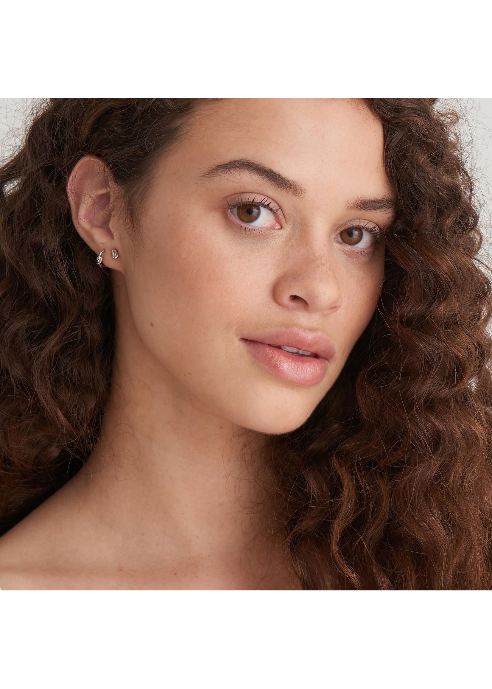 Ania Haie SILVER KNOT STUD EARRINGS