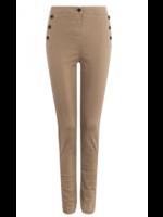 Anna Broek Jeans Camel Solid High Waist