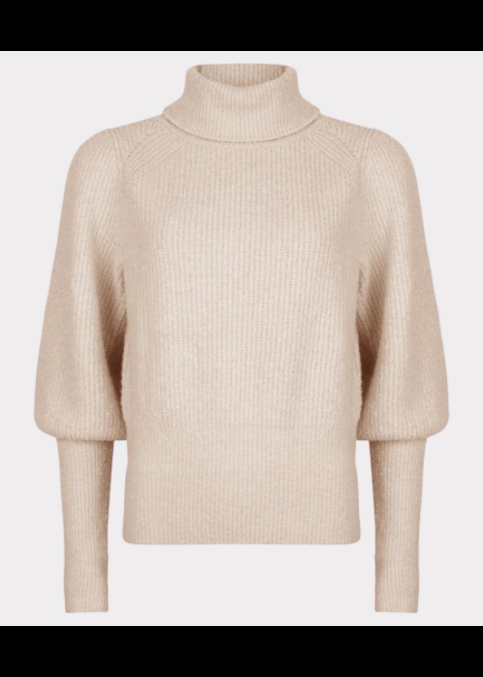 Esqualo Sweater high cuffs Beige
