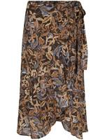 Tramontana Skirt Midi Winter Leaves Print PrintBlues
