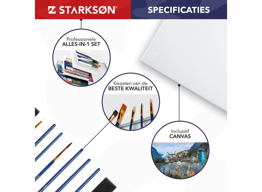 STARKSØN® 51 Stuks Olieverf Schilderen Set