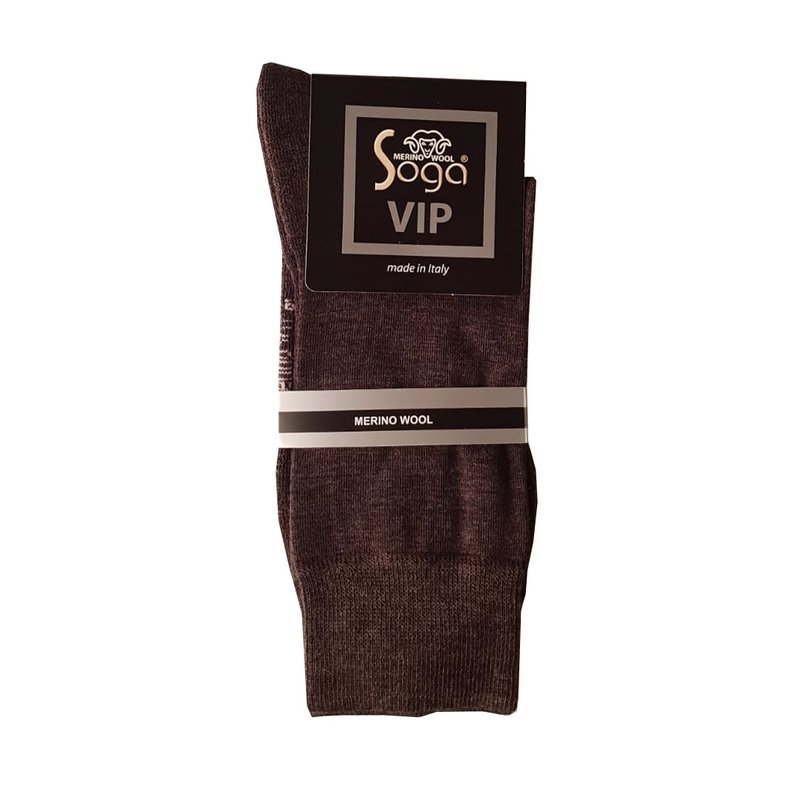 Soga Dunne wollen sokken met voetbed merino vip S13