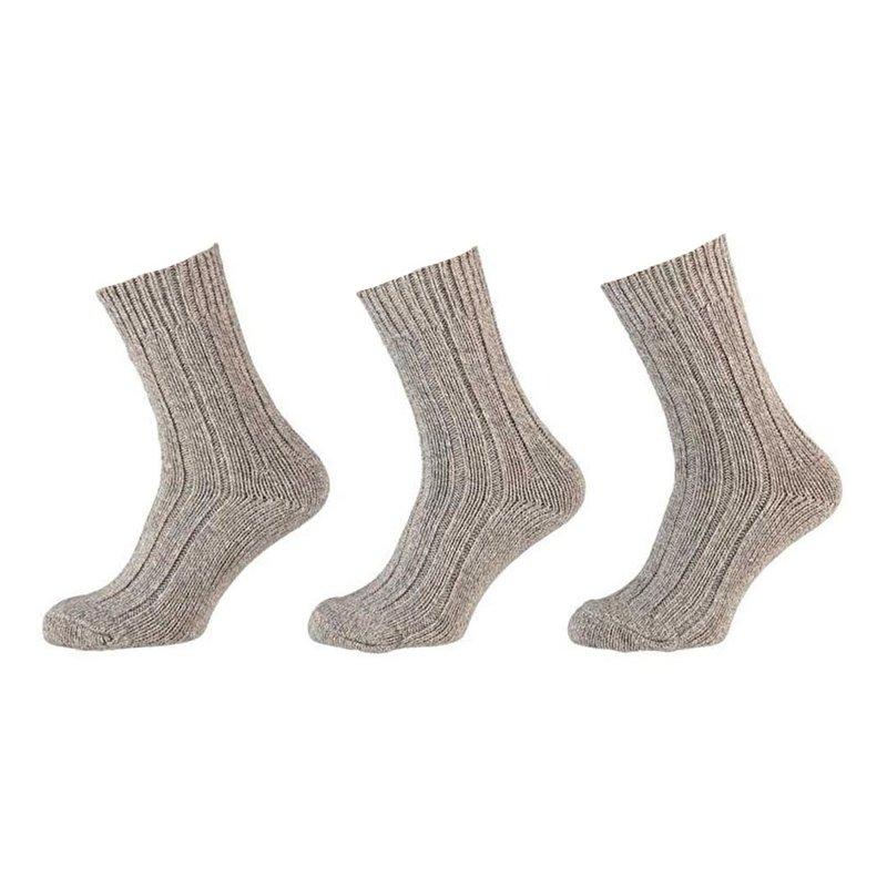 Apollo Klassieke grove noorse wollen sokken 3-pack