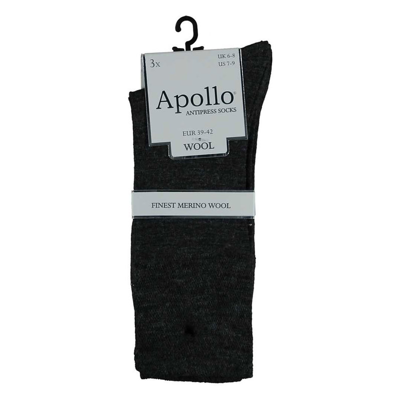 Apollo Anti knel wollen herensokken 3-pack