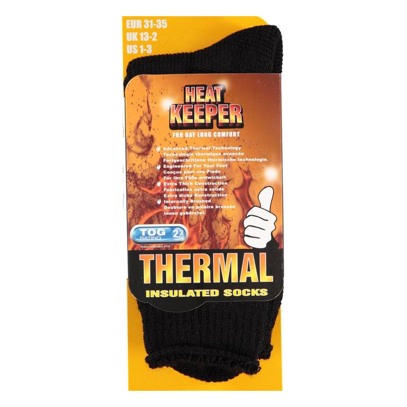 Heatkeeper thermo kindersokken zwart