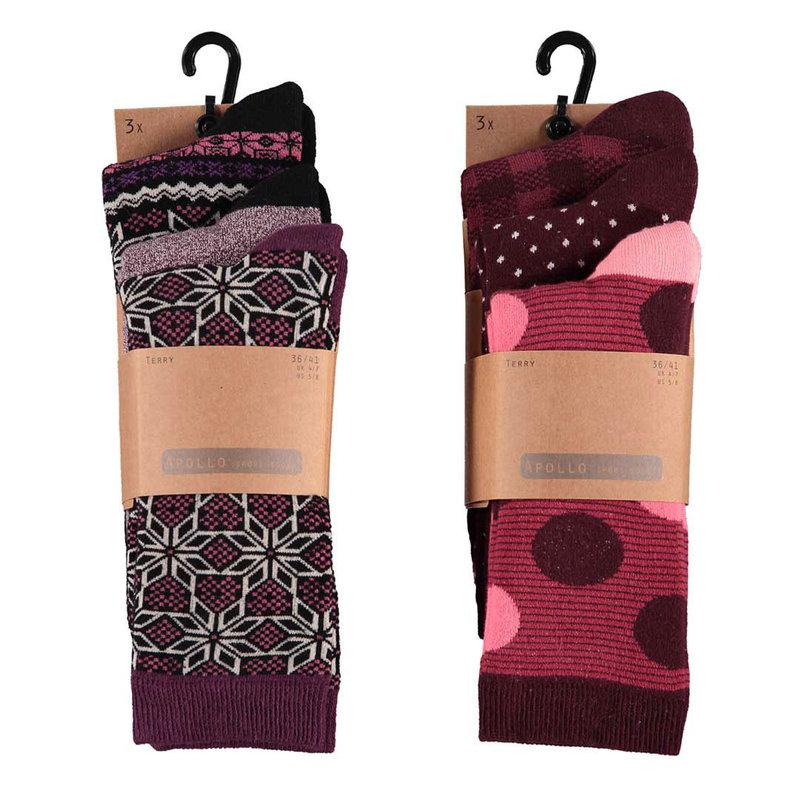 Apollo Dames sokken met badstof voering 3-Pack
