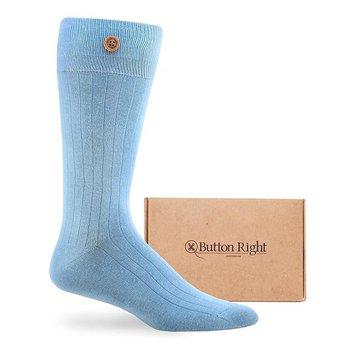 Button Right Effen katoenen sokken met knoop
