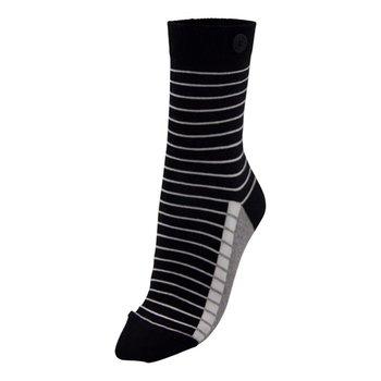 Qnoop Fancy stripe damessokken met knoop