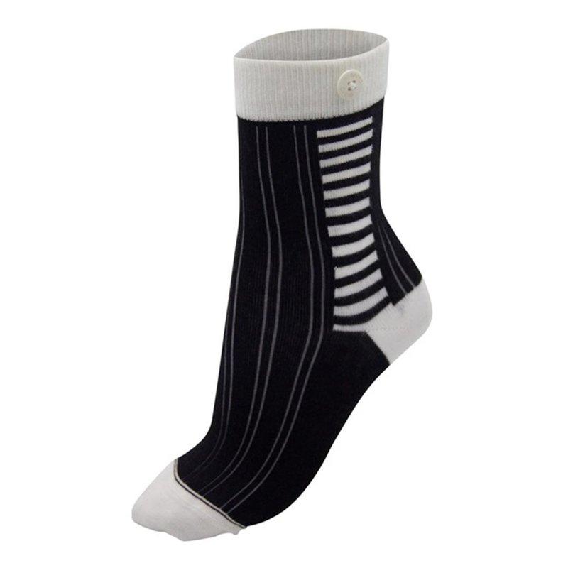 Qnoop Side stripe damessokken met knoop