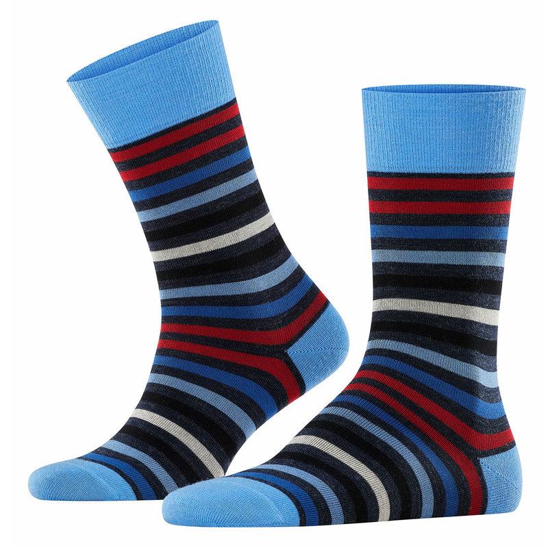 FALKE Tinted stripe wollen herensokken