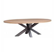 Ovalen vergadertafel met kruispoot