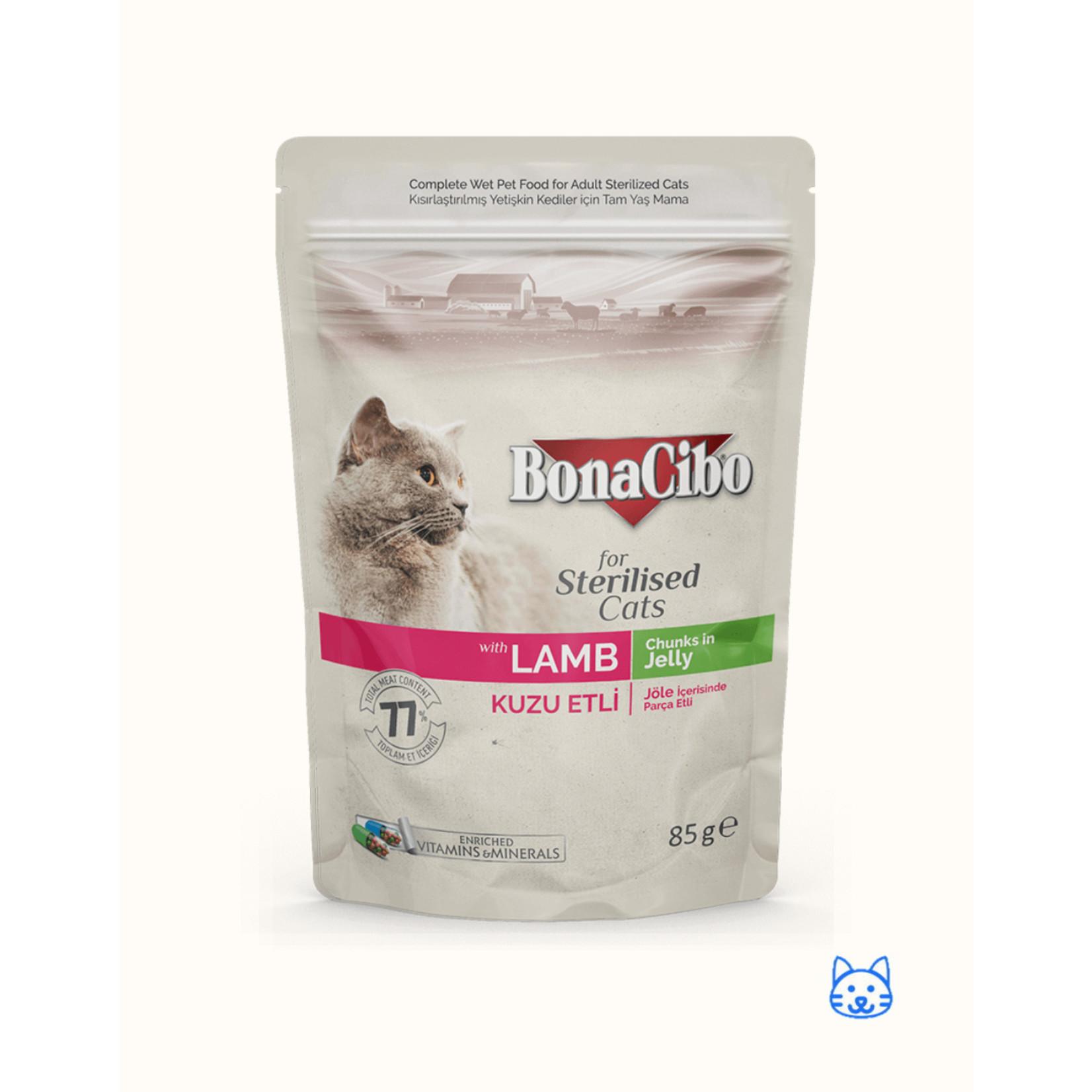 Bonacibo Bonacibo Pouch Sterilised  Lam Kattenvoer 12 x 85gr