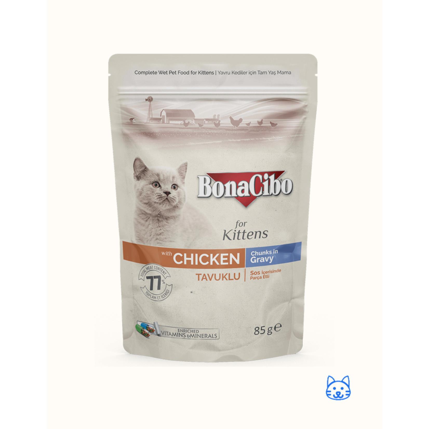 Bonacibo Bonacibo Pouch Kitten Kip 12 x 85gr