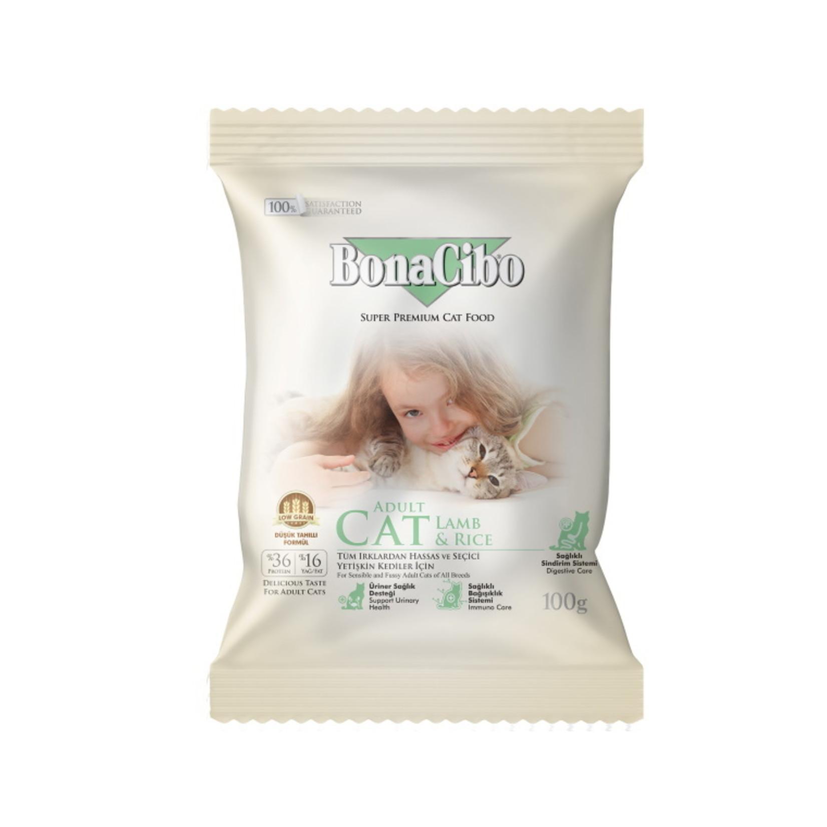 Bonacibo Sample 100 GR   BonaCibo Adult Cat Lam & Rijst
