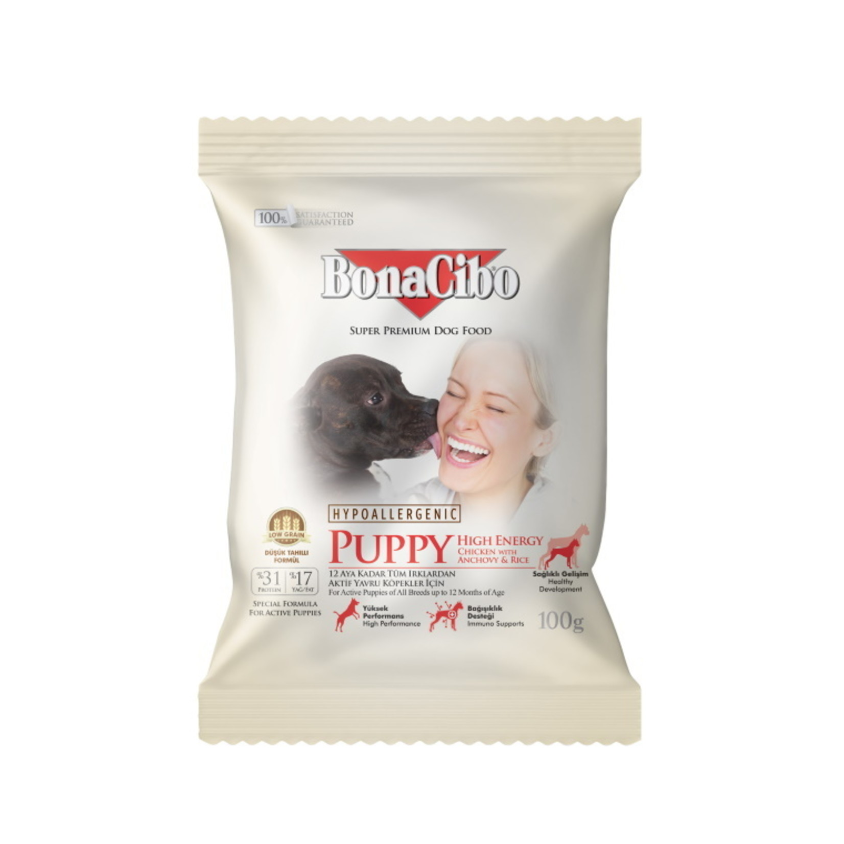 Bonacibo Sample 100 GR  Bonacibo Puppy High Energy