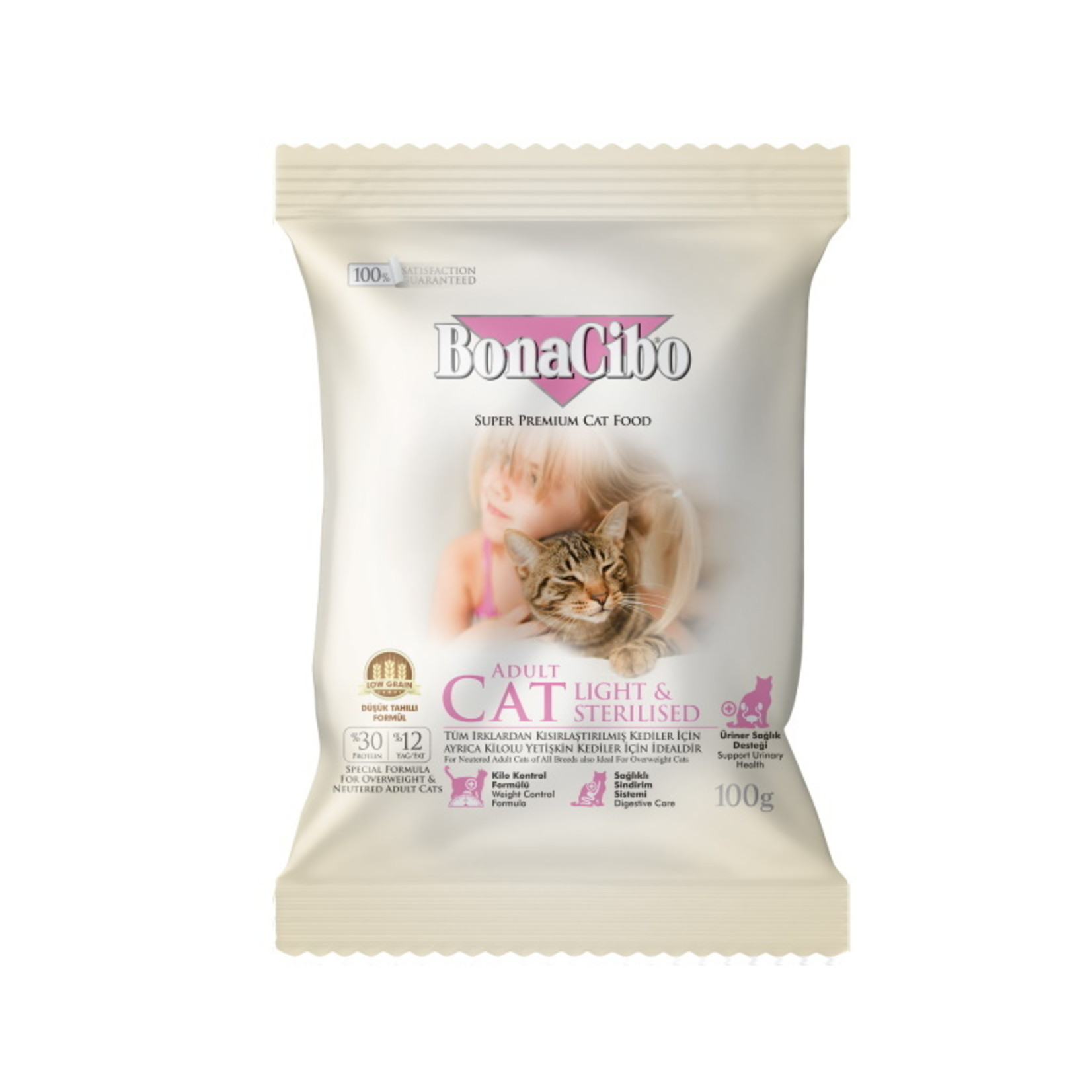 Bonacibo Sample 100 GR |  BonaCibo Adult Cat Light & Sterilised