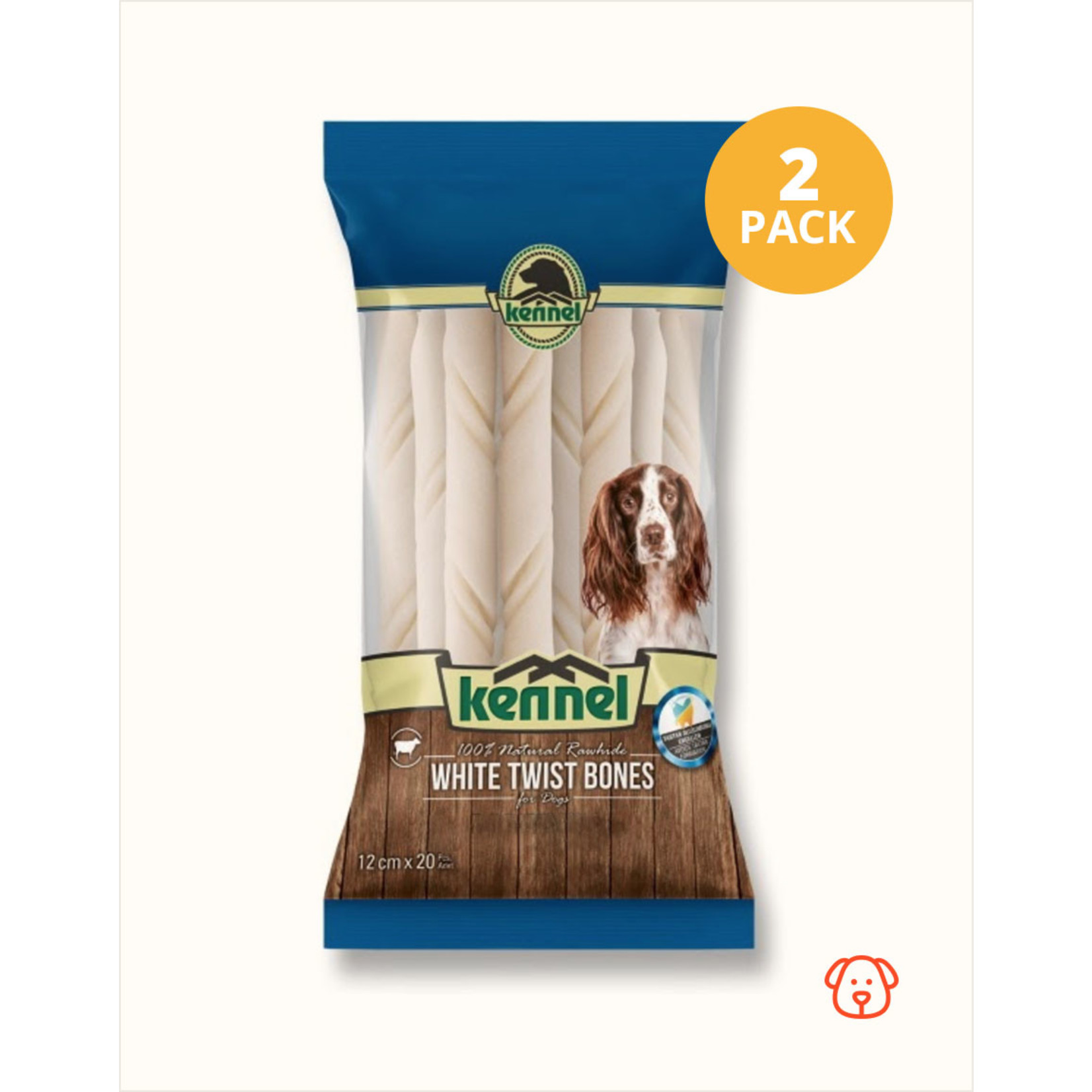 Kennel Kennel Chewing Bones White Twist 12cm