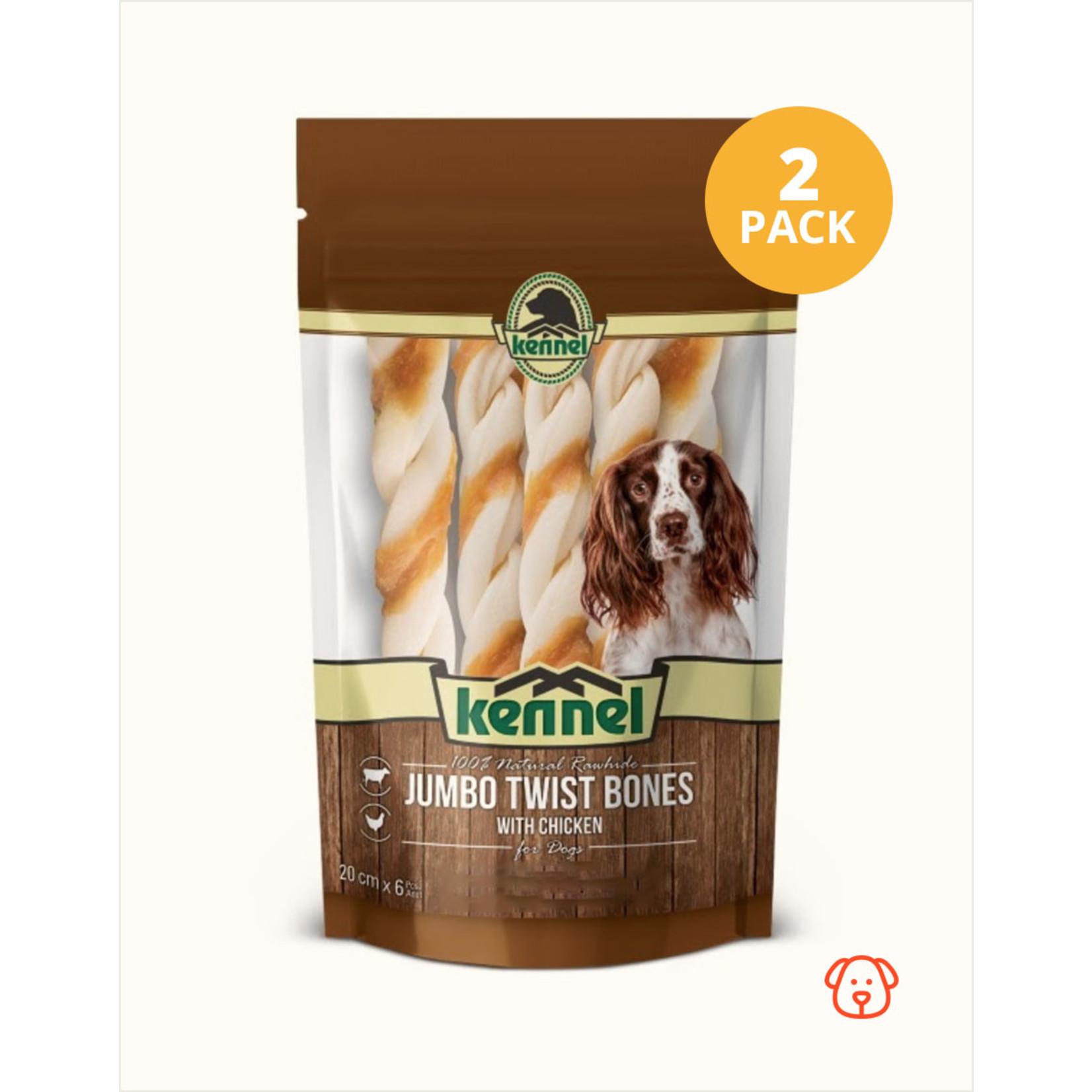 Kennel Kennel Chewing Bones Jumbo Twist   2 Pack