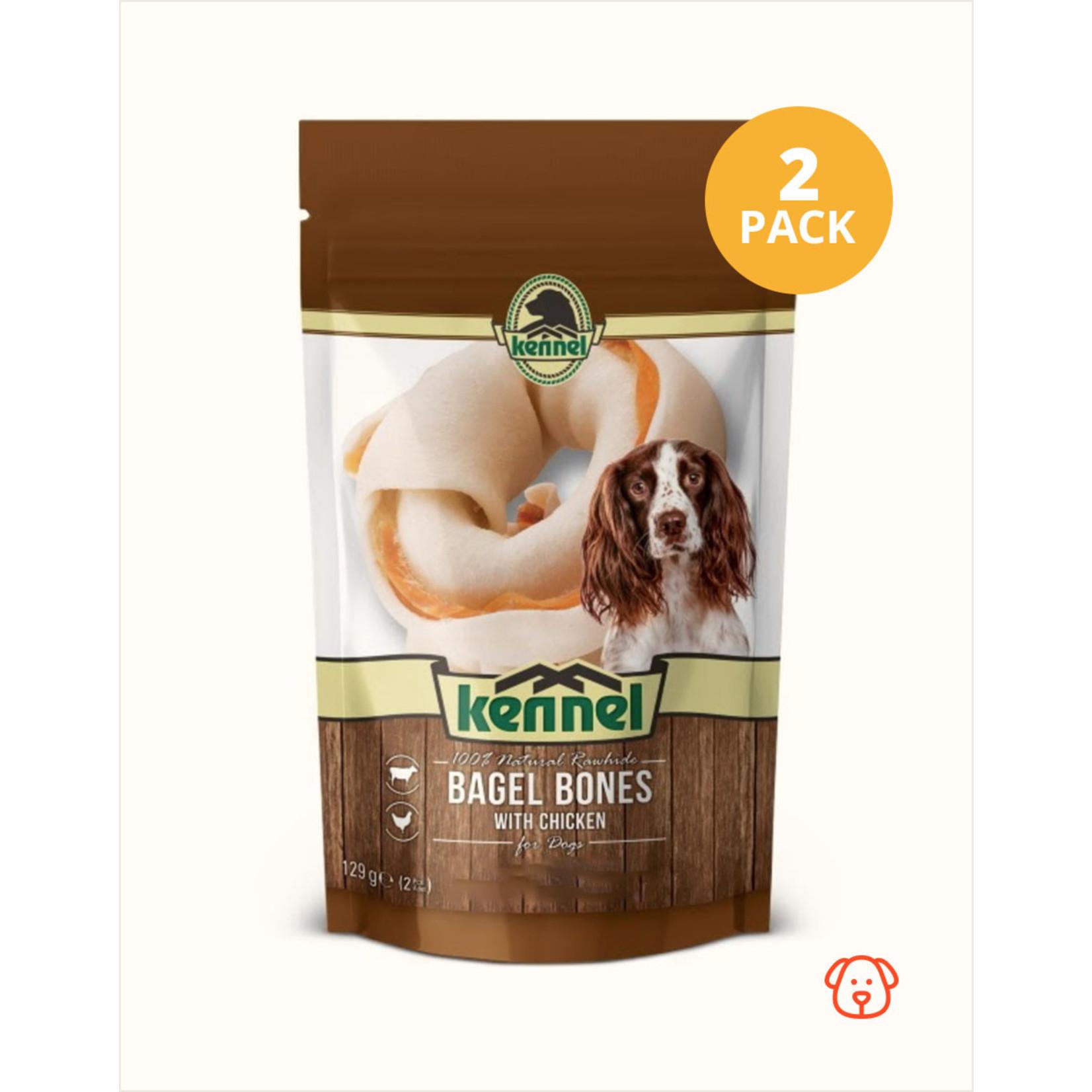 Kennel Kennel Chewing Bagel Bones   2 Pack