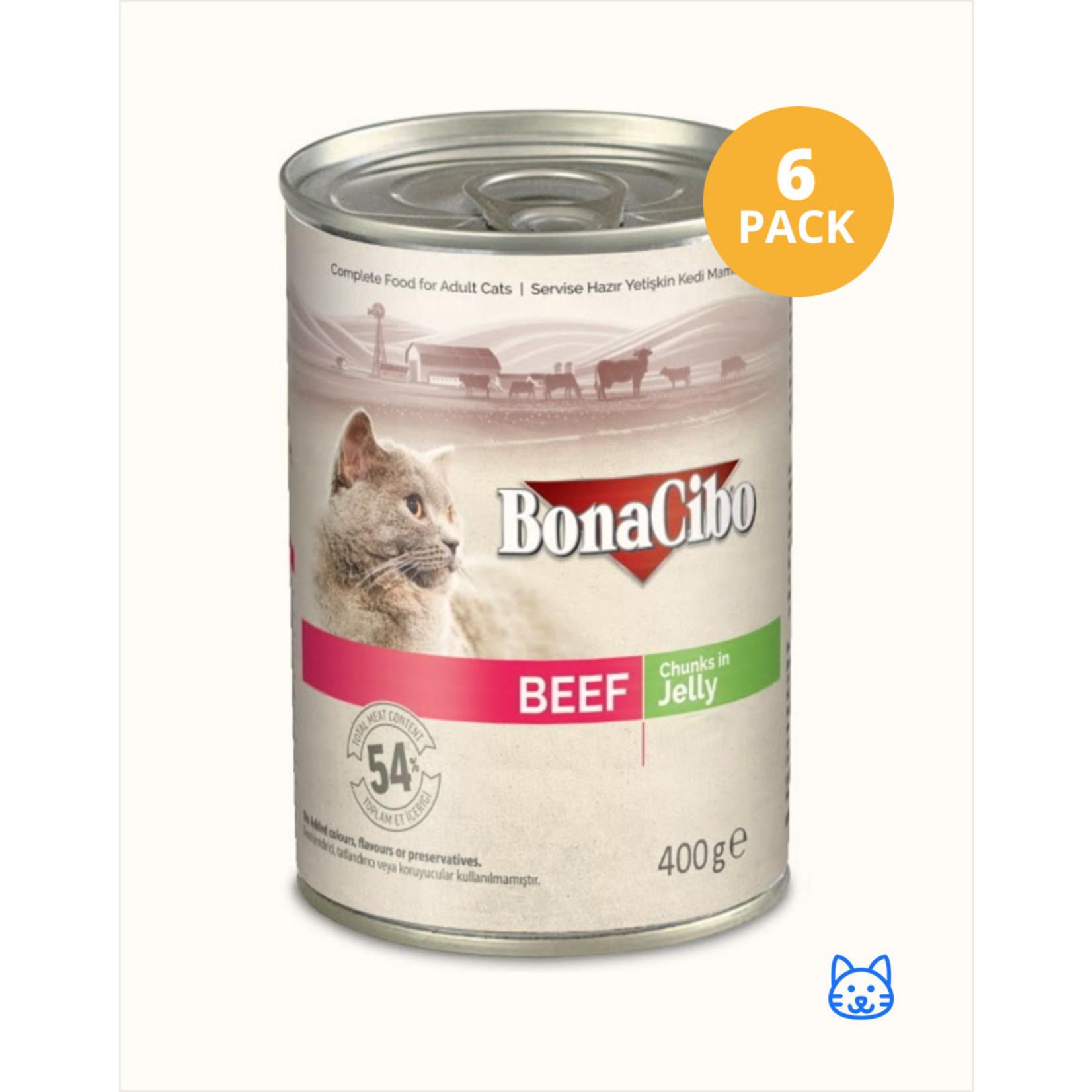 Bonacibo Bonacibo Blikvoer Rundvlees Kattenvoer 6 x 400gr