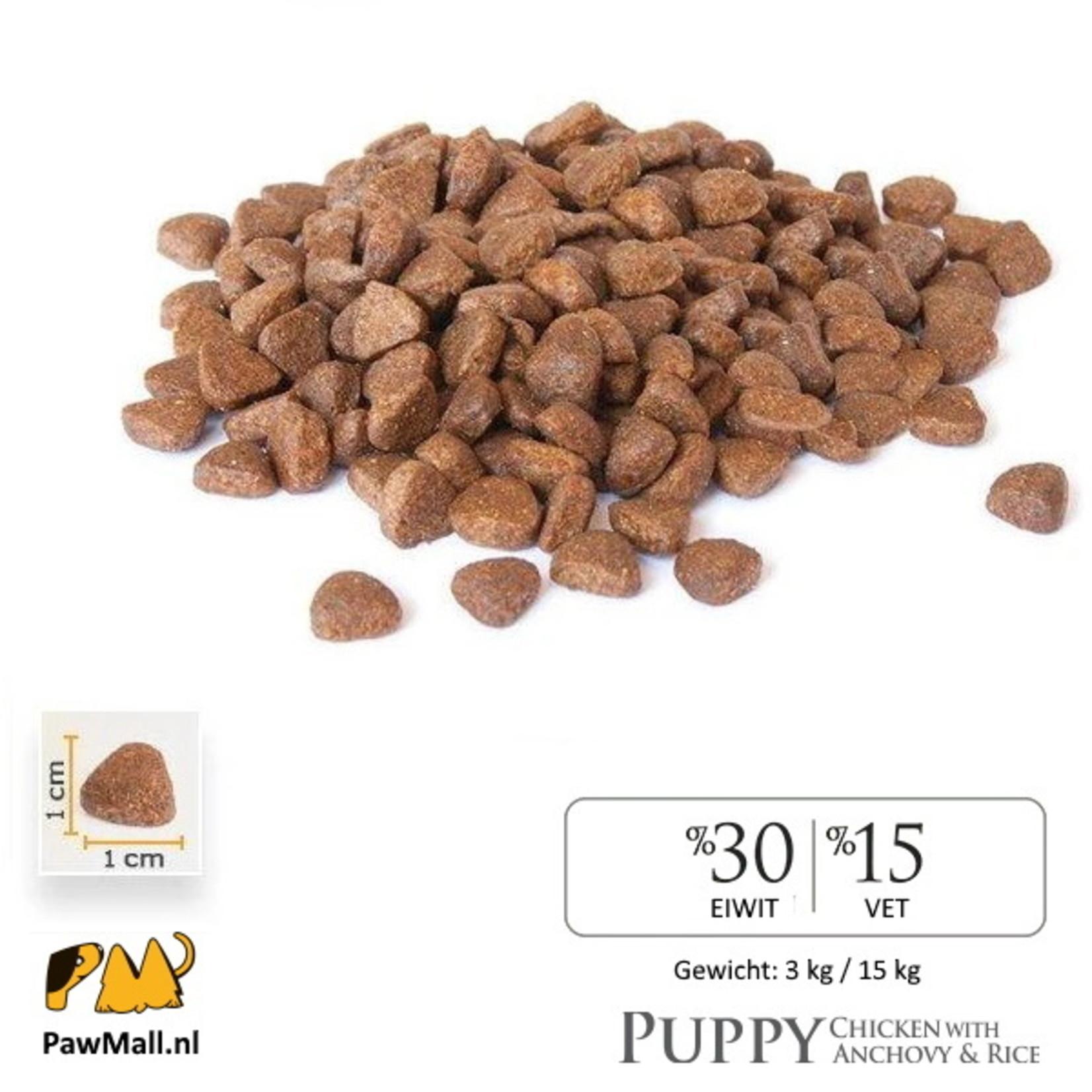 Bonacibo Bonacibo Puppy Kip & Rijst met Ansjovis   Hypoallergeen Premium Hondenvoer