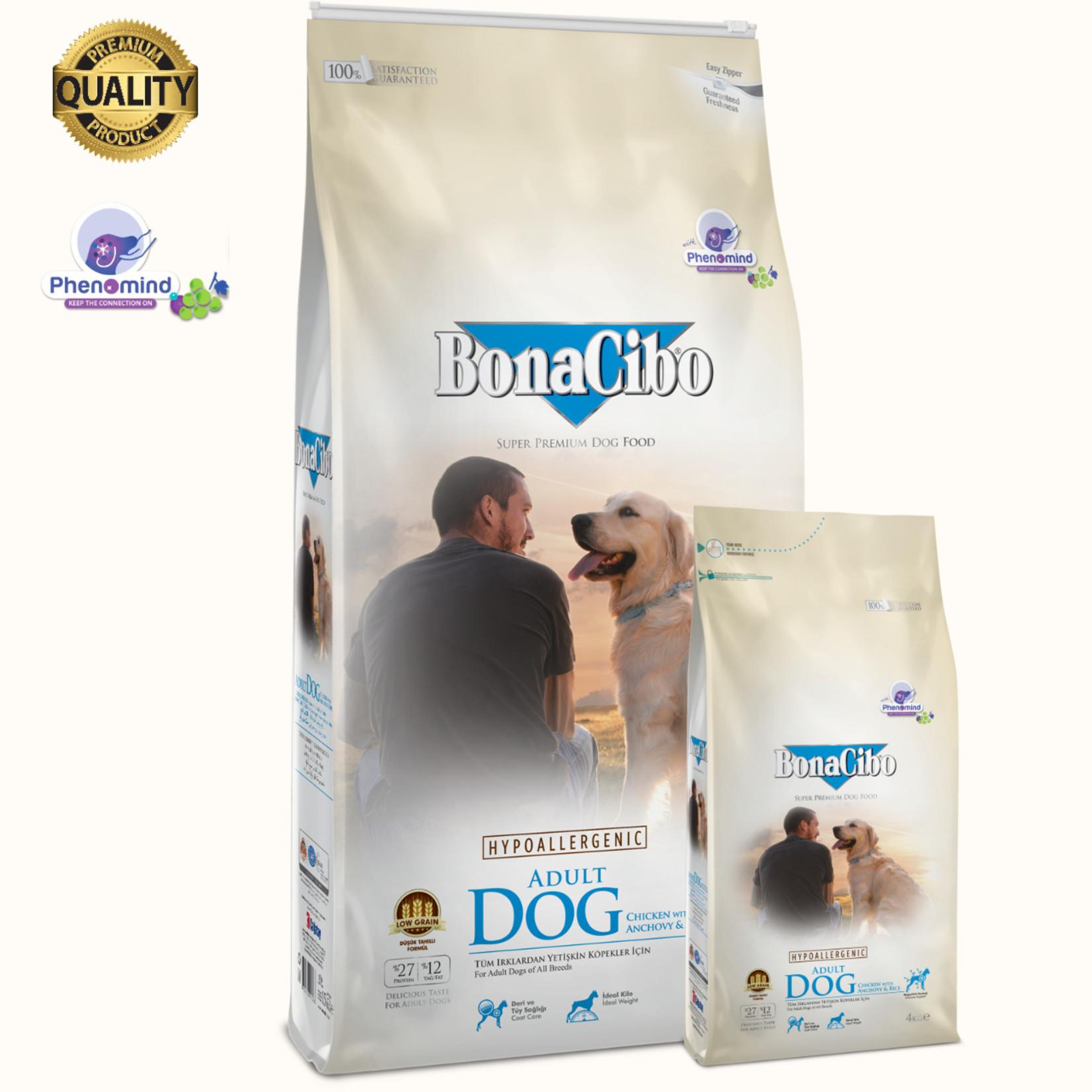 Bonacibo Bonacibo Dog Kip & Rijst met Ansjovis | Hypoallergeen Premium Hondenvoer