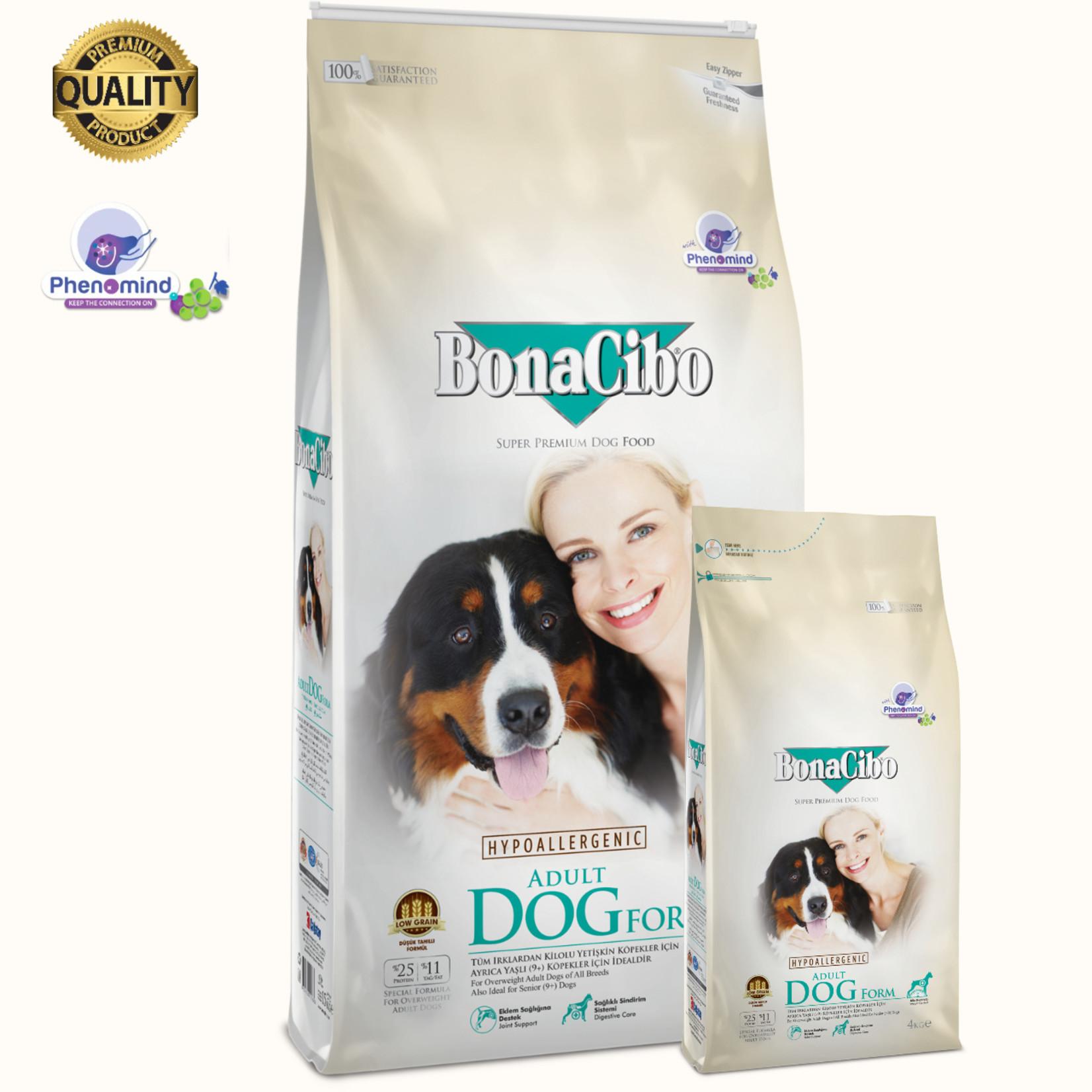 Bonacibo Bonacibo Form Dog Senior & Overgewicht   Hypoallergeen Premium Hondenvoer