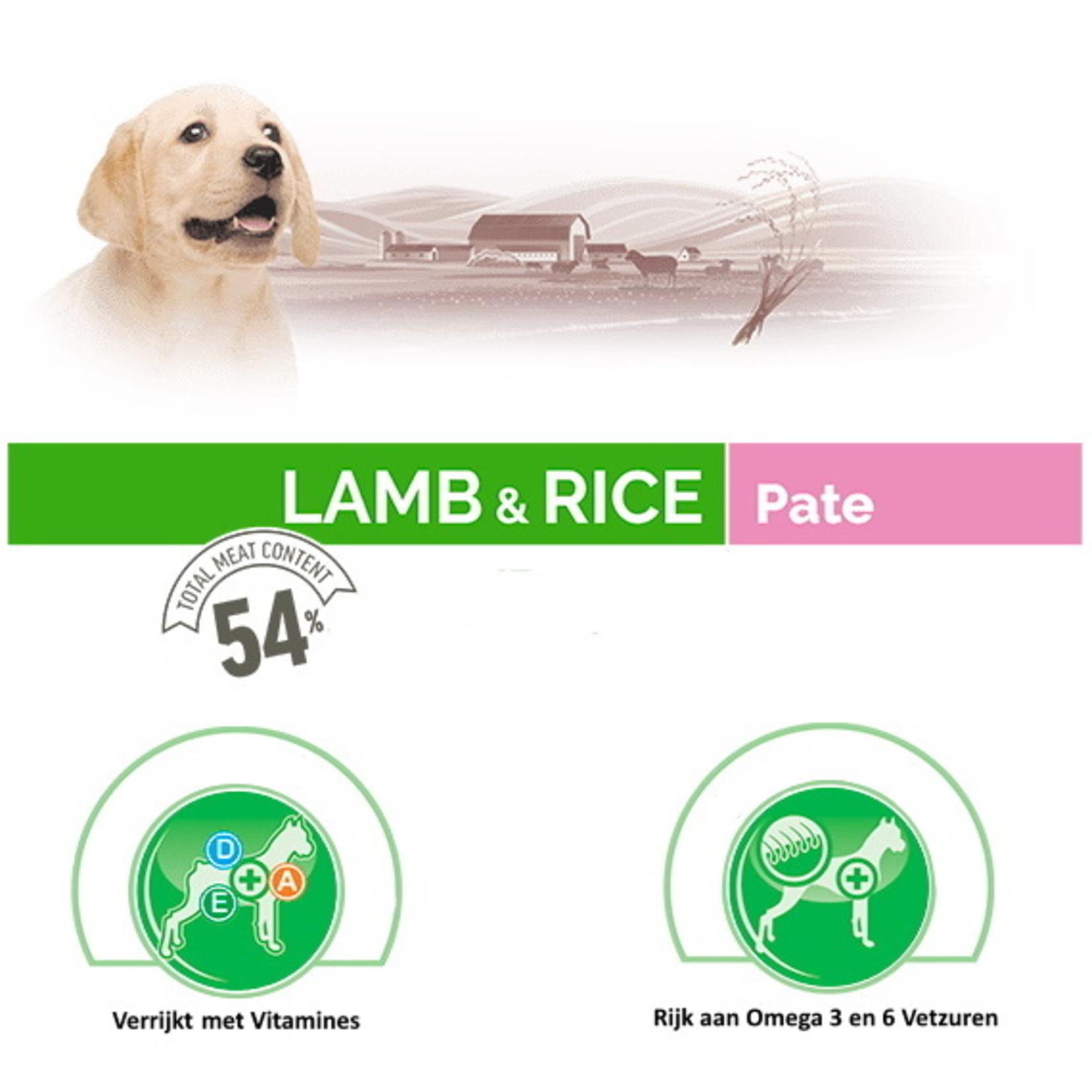 Bonacibo Bonacibo Puppy Blikvoer Paté Lam & Rijst 6 x 395gr