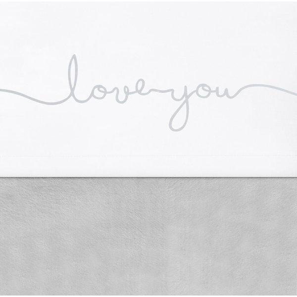 Jollein Jollein - Laken 75x100cm - Love you grey