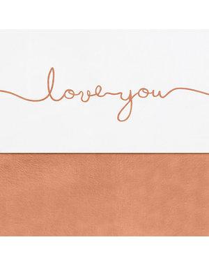 Jollein Jollein - Laken 75x100cm - Love you caramel