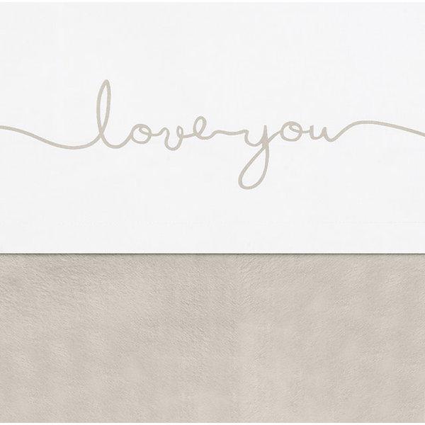 Jollein Jollein - Laken 75x100cm - Love you nougat