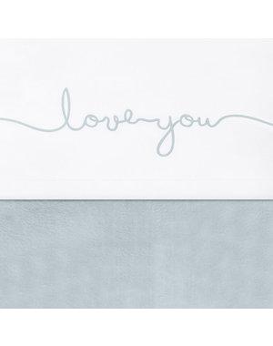 Jollein Jollein - Laken 120x150cm - Love you stone green