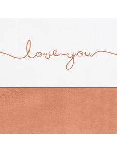 Jollein Jollein - Laken 120x150cm - Love you caramel