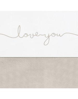 Jollein Jollein - Laken 120x150cm - Love you nougat