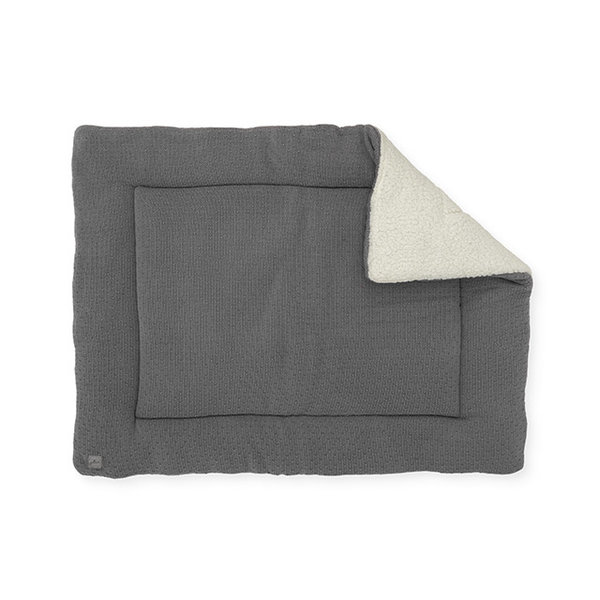 Jollein Jollein - Boxkleed 80x100cm - Bliss knit storm grey /teddy