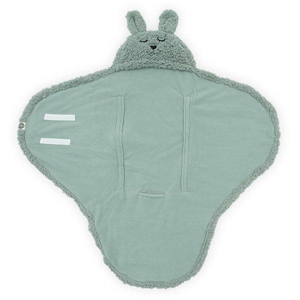 Jollein Jollein - Wikkeldeken Bunny - Ash green