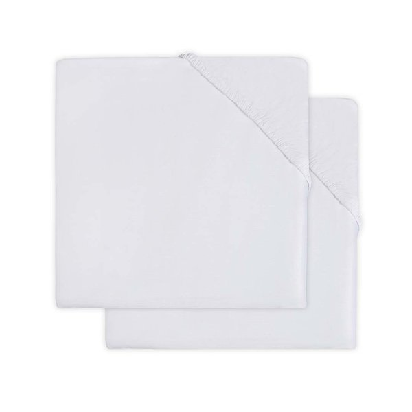 Jollein Jollein - Hoeslaken Wieg jersey 40x80/90cm - White (2pack)