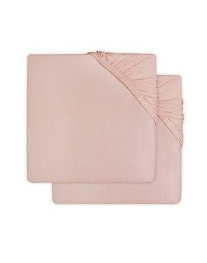 Jollein Jollein - Hoeslaken jersey 60x120cm - Pale pink (2pack)