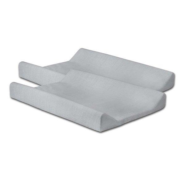 Jollein Jollein - Waskussenhoes badstof 50x70cm - Soft grey (2pack)