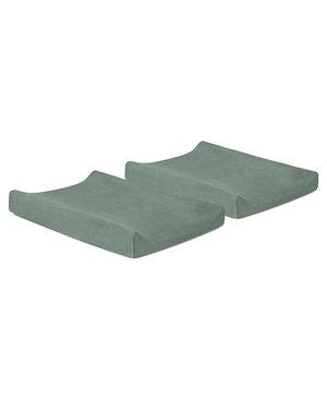 Jollein Jollein - Waskussenhoes badstof 50x70cm - Ash green (2pack)