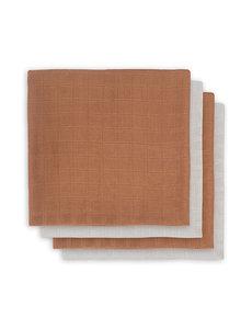 Jollein Jollein - Bamboe Multidoek small 70x70cm - Caramel (4pack)