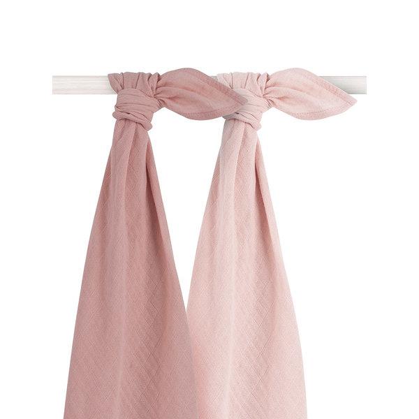 Jollein Jollein - Bamboe Multidoek large 115x115cm - Pale pink (2pack)