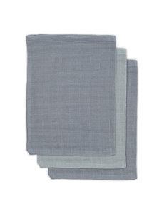 Jollein Jollein - Bamboe washandje hydrofiel - Storm grey (3pack)
