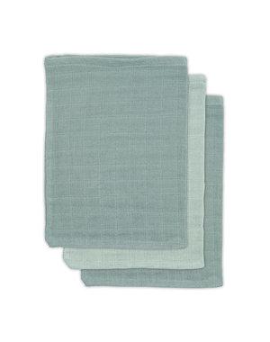 Jollein Jollein - Bamboe washandje hydrofiel - Ash green (3pack)