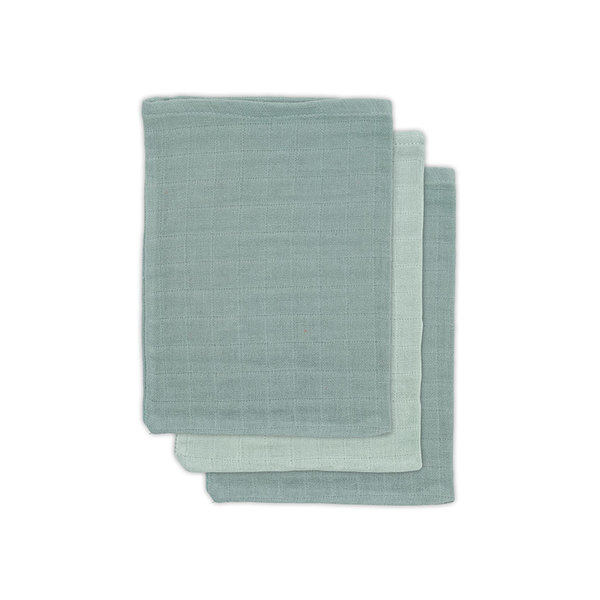 Jollein Jollein - Bamboe washandje - Ash green (3pack)