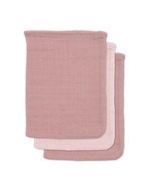 Jollein Jollein - Bamboe washandje hydrofiel - Pale pink (3pack)
